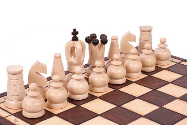handmade mini chess set
