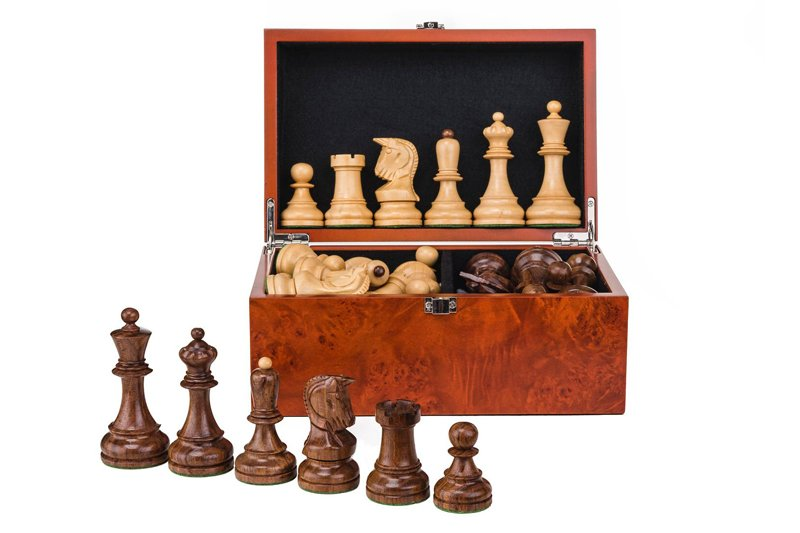 chess pieces in box