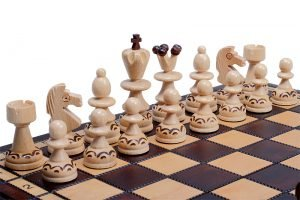 handmade wooden chess set paris