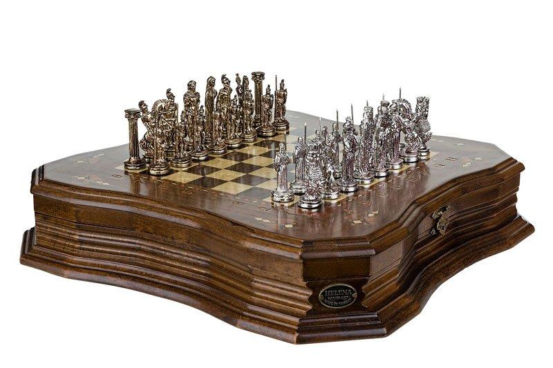 Schachspiel Antique aus Walnuss