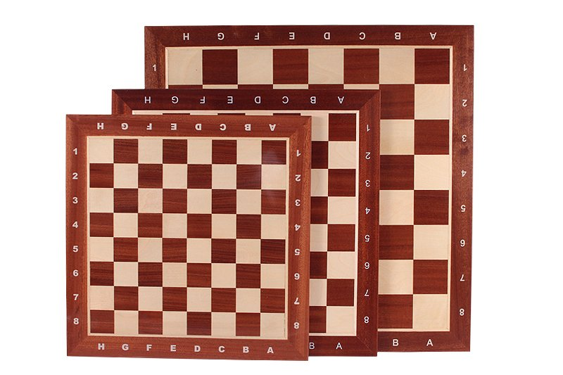 mahogany chess board