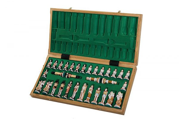 wooden egypt chess set