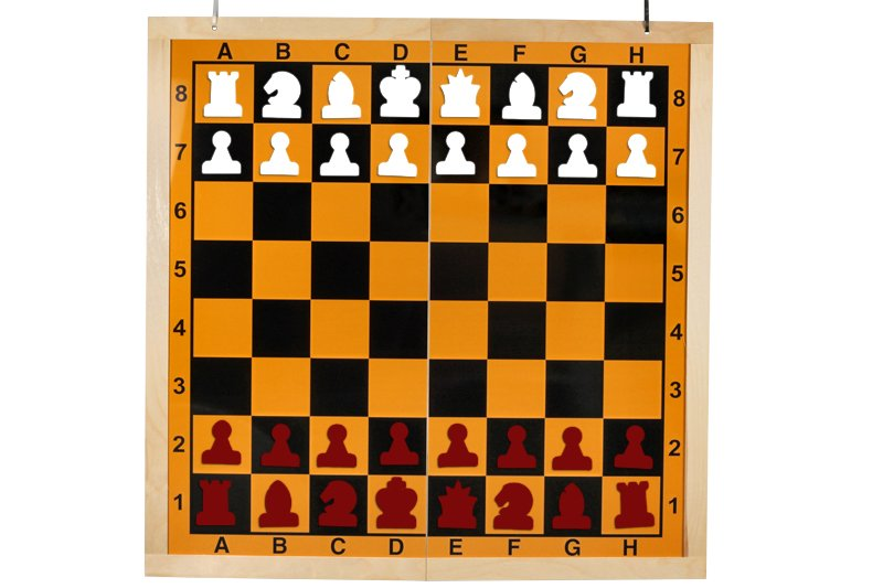 half folding chess set