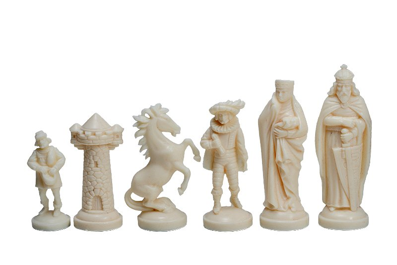 medieval chess pieces plastic