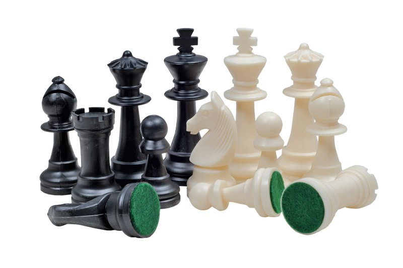 chess pieces plastic