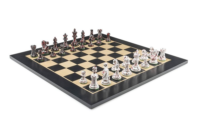 chess set colored