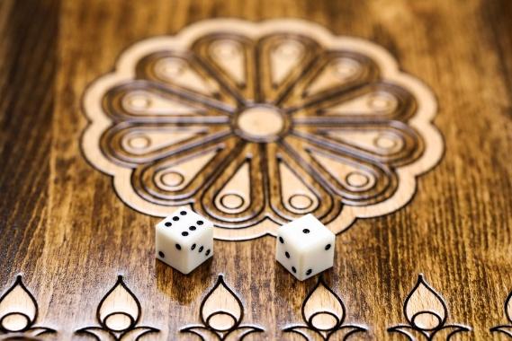 Schachspiel Backgammon Klassisch Buchenholz 30 cm