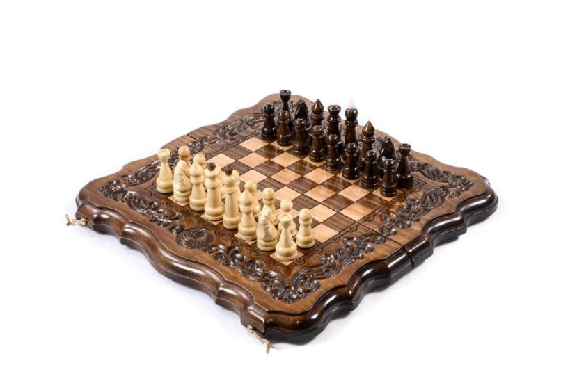 Schachspiel Backgammon Mit Urheberrechtlich Geschützter Konturkontur 30 cm