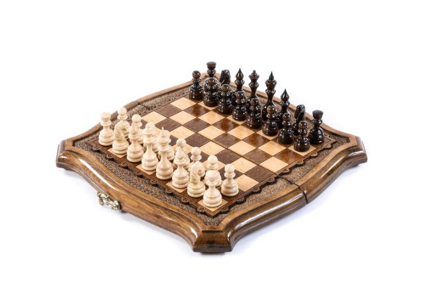 Schachspiel Buchenholz 24 cm
