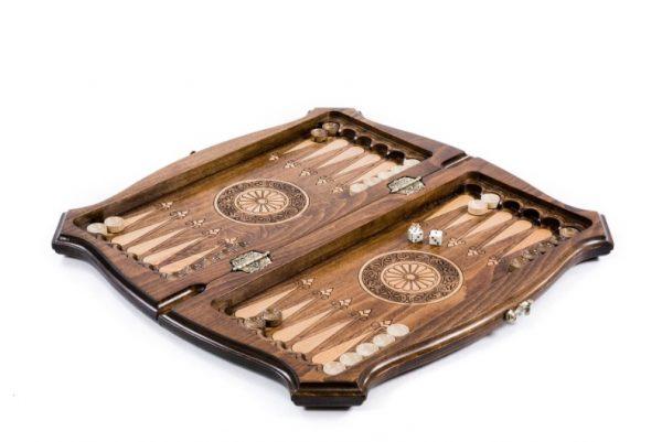 Schachspiel Backgammon Mit Urheberrechtlich Geschützter Konturkontur 40 cm