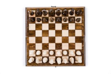 Schachspiel und Backgammon Buchenholz 40cm